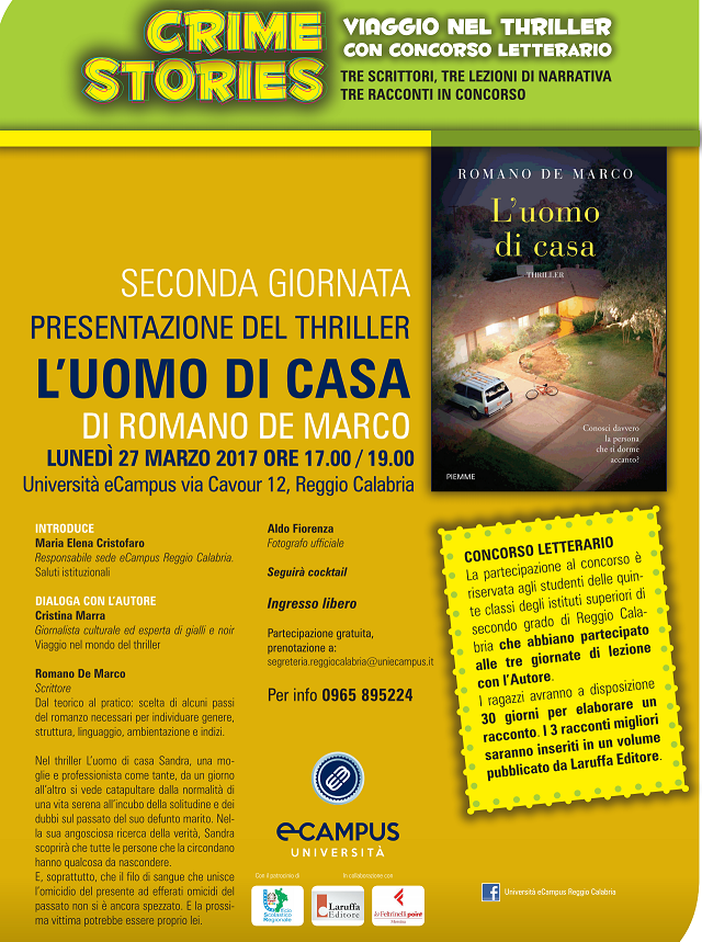 Reggio - Crime Stories con lo scrittore Romano de Marco ...