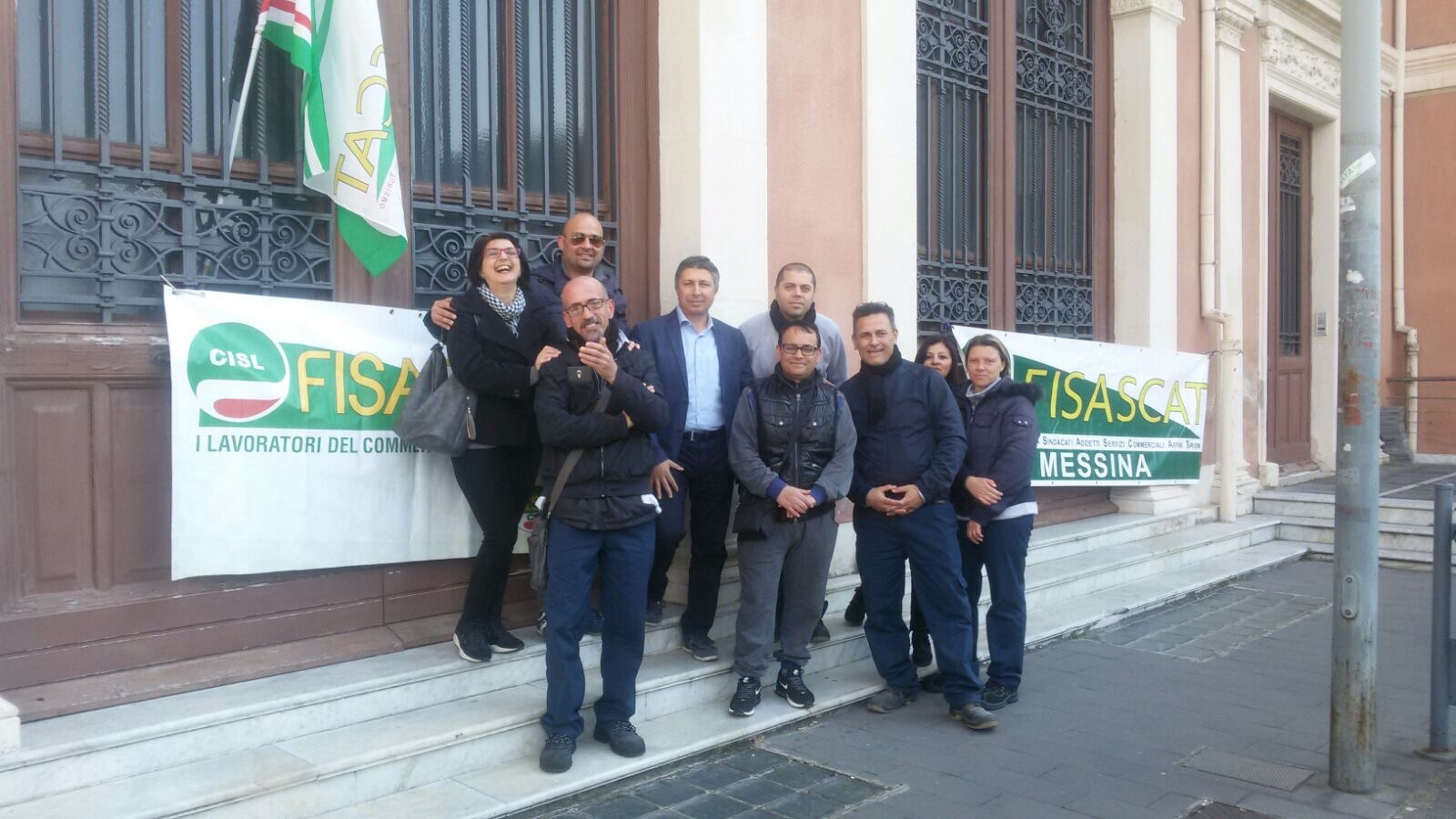 Lavoratori Confor in presidio all'università di MEssina
