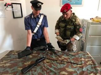 Due fucili e munizioni trovati nel reggino