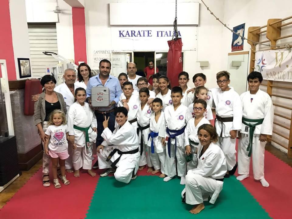 Cannizzaro con i karateki