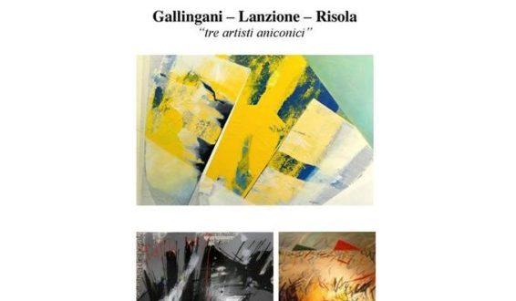 Cosenza: mostra artisti aniconici, Alberto Gallingani, Mario Lanzione, Myriam Risola