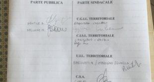 Cosenza, Iacucci sigla intesa per il contratto decentrato del personale