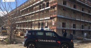 Lavoratori irregolari sul cantiere della Residenza esecuzione misure di sicurezza