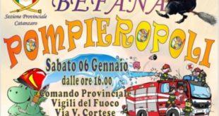 Catanzaro, la Befana di Pompieropoli: un gioco per ogni piccolo pompiere