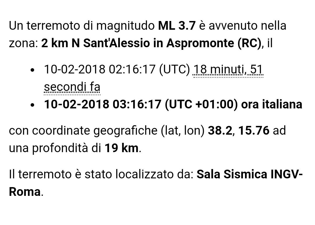 Forte scossa di terremoto in Calabria, avvertita in tutto lo Stretto
