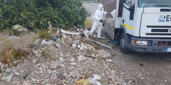 Cosenza sul fiume trionto prelevati rifiuti pericolosi for Ufficio decoro urbano messina