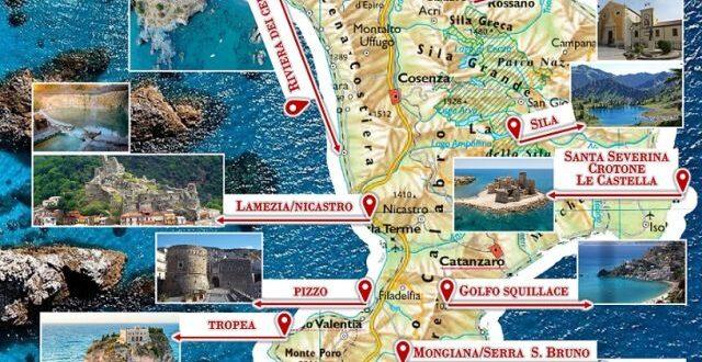 Cartina Calabria Immagini.Montepaone L Omaggio Di Naturium Alla Calabria Mappa In Regalo Ai Turisti Strill It
